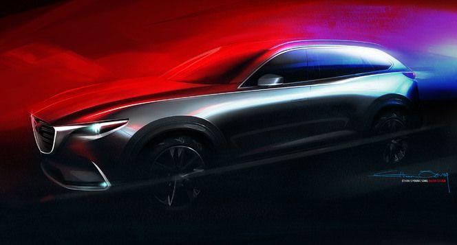 Le nouveau Mazda CX-9 en teaser avant sa présentation officielle