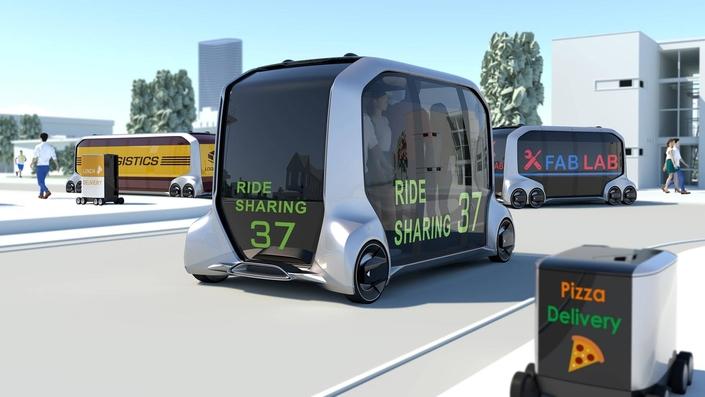 Toyota dévoile l'e-Palette, le véhicule à tout faire