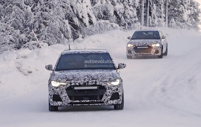 Scoop : la future Audi A1 dans la poudreuse
