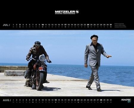 Calendrier Metzeler 2016 : le cinéma à l'honneur
