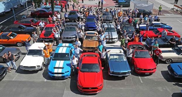 50 ans de Ford Mustang en Allemagne