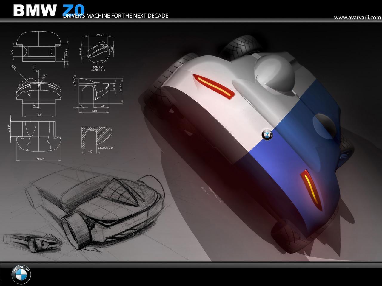 Bmw Z0 Concept Bleu 233 Colo Amp 450 Kg