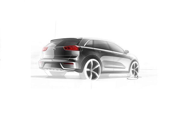 Le Kia Niro hybride en teaser