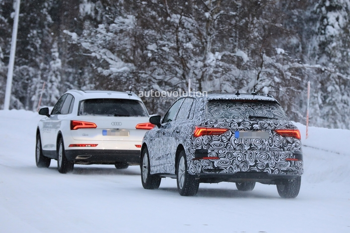 Le futur Audi Q3 montre sa signature visuelle