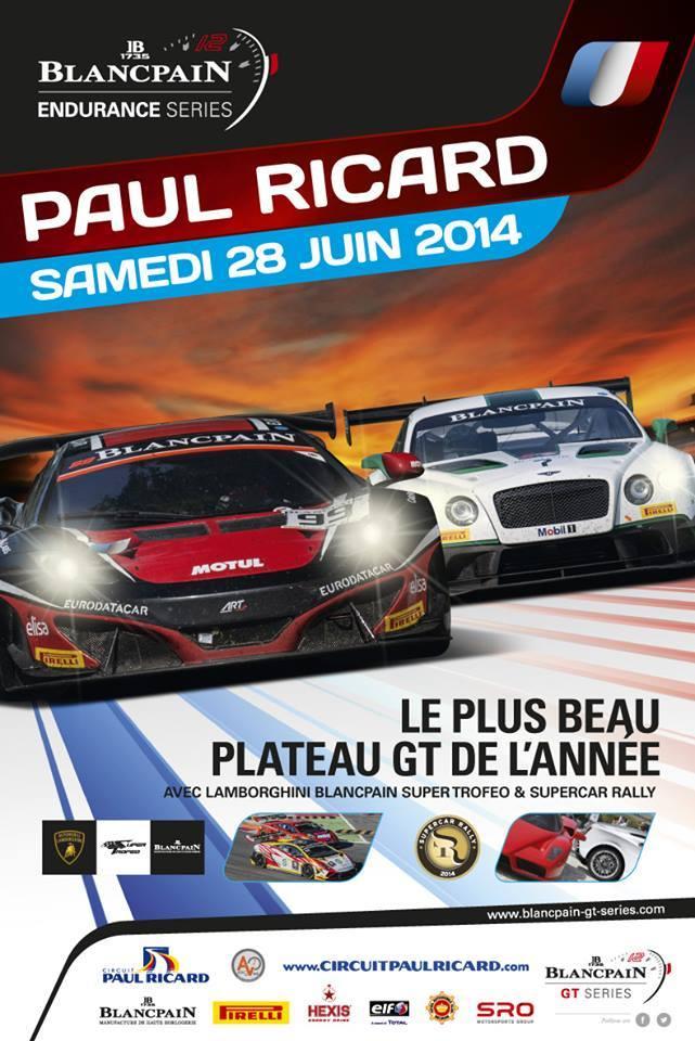 Agenda week-end : Blancpain Endurance Series au Paul Ricard