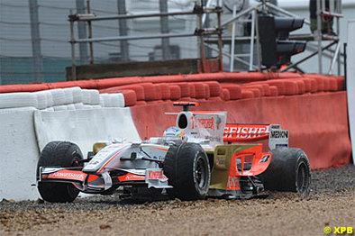 Formule 1 - Grande Bretagne: Cette fois, Sutil n'a rien pu faire