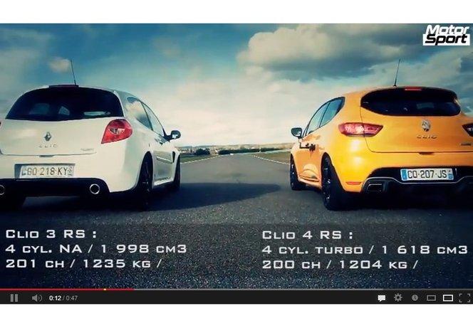 Drag Race : Renault Clio R.S 3 vs Renault Clio R.S 4 : qui fesse l'autre ?