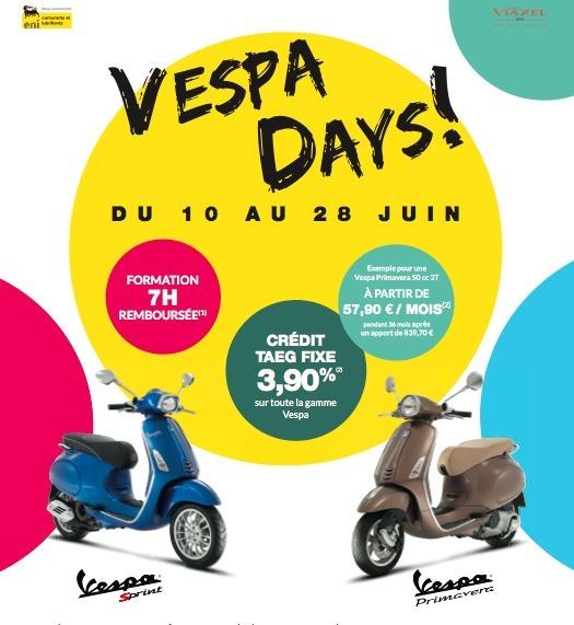 Piaggio France : les Vespa Days et les journées Piaggio du 10 au 28 juin