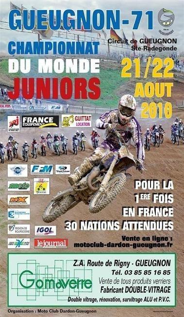 Championnat du monde Junior à Gueugnon le 22 aout : Encore des places à prix réduit, vite