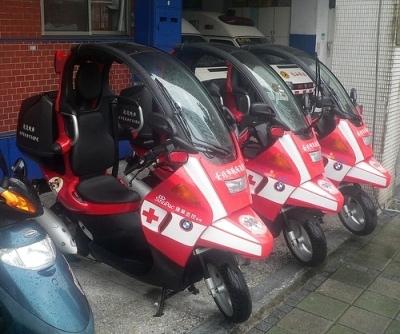 La photo du jour : ambulance express !