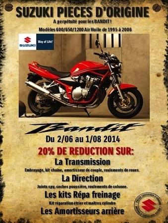 Suzuki France : des « pièces d'origine à perpétuité pour les Bandit »