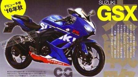 Nouveauté 2016, Suzuki GSX-R 250: premières photos... volées...