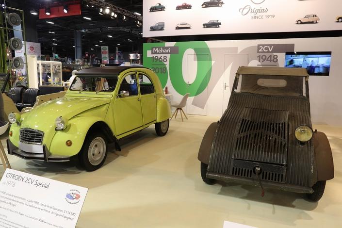 Les Citroën 2CV et Méhari à l'honneur - Vidéo en direct de Rétromobile 2018
