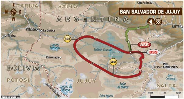 Dakar - étape 4 : le parcours du jour