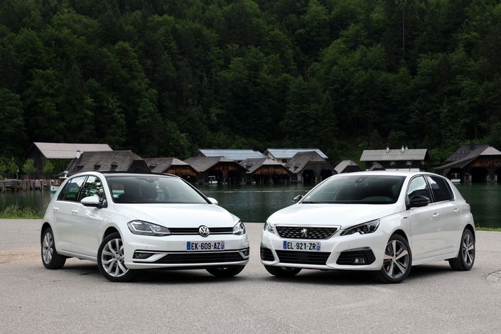 Comparatif vidéo - Peugeot 308 (2017) vs Volkswagen Golf (2017) : duel de championnes