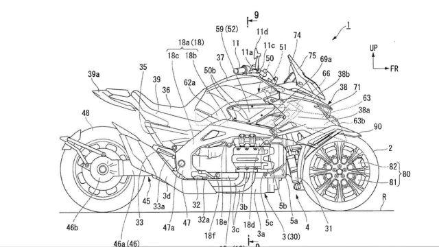 Nouveauté - Honda: et pourquoi pas un trois roues six cylindres hybride?