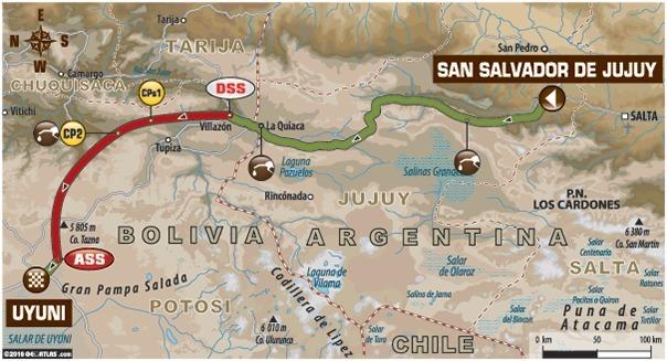 Dakar - étape 5 : le parcours du jour