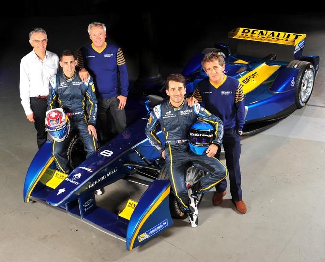 Renault sponsor titre de l'écurie e.dams en Formule E
