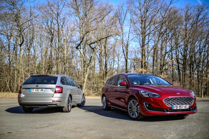 Comparatif - Ford Focus SW VS Skoda Octavia Combi: mélange des genres