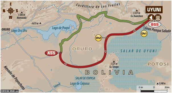 Dakar - étape 6 : le parcours du jour
