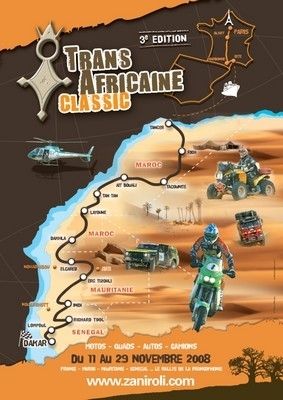 Le rallye TransAfricaine Classic 2008 s'ouvre au 2 roues...