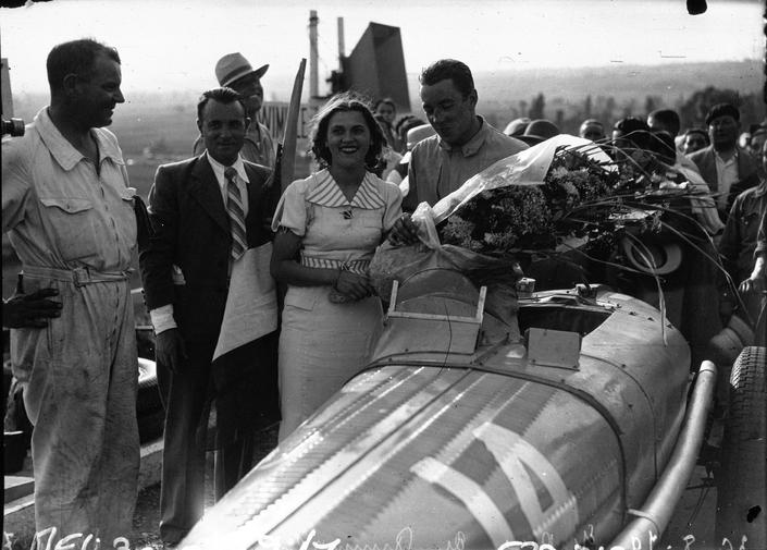Jean-Pierre Wimille, victorieux au Grand Prix du Comminges 1936.