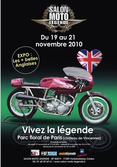 13ème salon Moto Légende du 19 au 21 novembre 2010 : les anglaises à l'honneur.