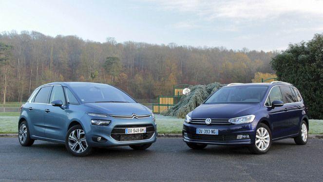 Comparatif vidéo - Citroën C4 Picasso vs Volkswagen Touran : les vedettes