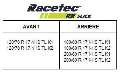 Metzeler Racetec RR Slick: pour les compétiteurs