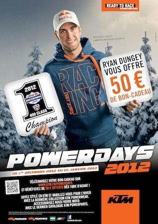 KTM PowerDays 2012: du 1er septembre au 15 janvier 2013