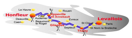 La randonnée de cyclotourisme Levallois-Honfleur prévue le 12 septembre 2009
