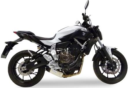 LeoVince Underbody aligne la Yamaha MT 07