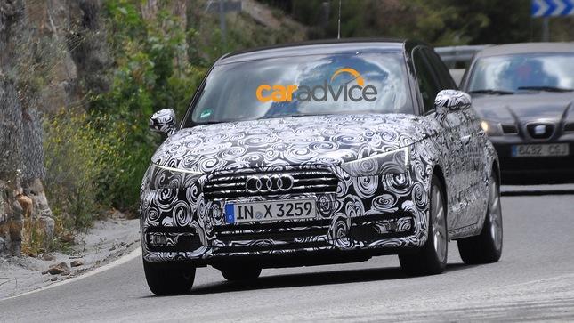 Surprise : l'Audi A1 restylée en promenade