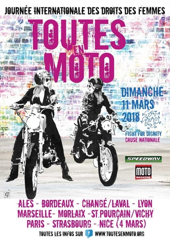 "Calendrier : ""Toutes en moto"", le 11 mars 2018"