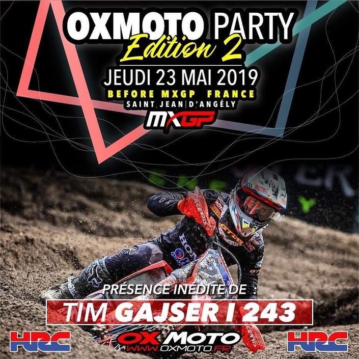 MXGP France : Tim Gajser présent à la Oxmoto Party 2
