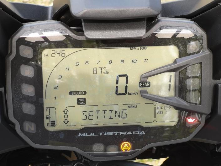 Essai Ducati Multistrada 950 - Bloc compteur