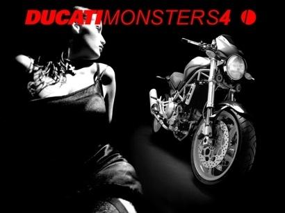 Moto & Sexy : Ducati vêtu de noir et blanc : partie 7