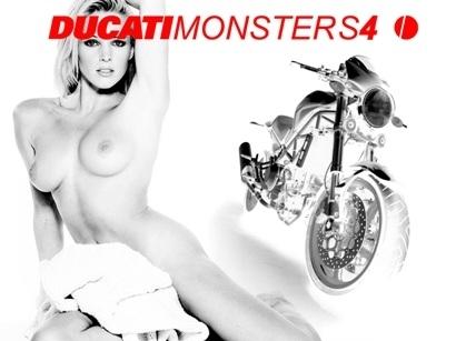 Moto & Sexy : Ducati vêtu de noir et blanc : partie 8