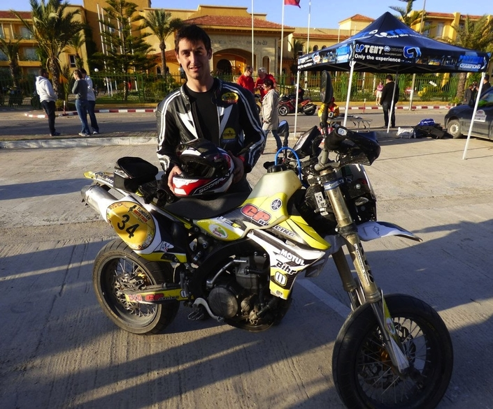 Sébastien Lagut en Tunisie pour encadrer la Moto Tour Series Academy