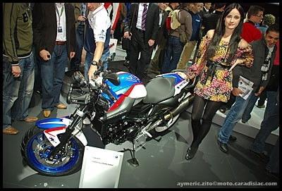 Salon de Milan 2008 en direct : BMW F800R Chris Pfeiffer - Stunteuse de série