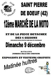 """Le calendrier des """"Bourses motos"""" de décembre 2012 & janvier 2013"""