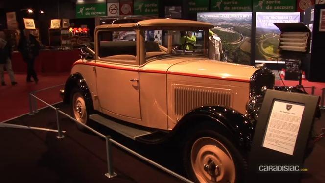 Vidéo - Rétromobile 2012 comme si vous y étiez : le stand Peugeot