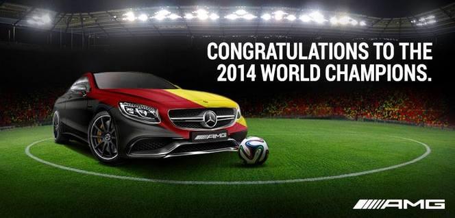 Les constructeurs allemands célèbrent la victoire de la Mannschaft