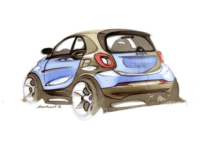 Voici la nouvelle Smart Fortwo ... en dessins