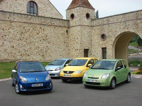 Renault Twingo/Citroën C2/ Toyota Aygo/ Volkswagen Fox : la ville comme terrain de jeu