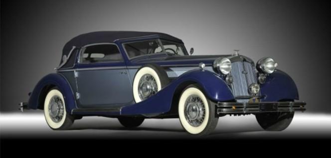 Vidéo- Vente aux enchères Rétromobile 2012 - Une Horch 853 cabriolet à 400 000 €