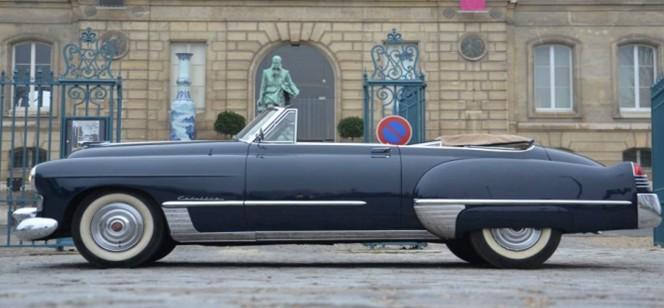 Vidéo- Vente aux enchères Rétromobile 2012 : une spectaculaire Cadillac de 1948 évaluée 50 000 €