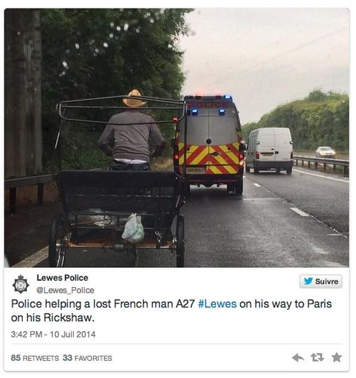 Angleterre : un Français se retrouve sur une autoroute... en tricyle