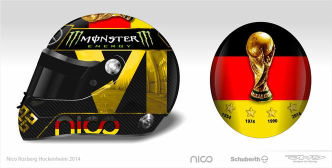 La FIFA interdit à Nico Rosberg de porter un casque arborant la Coupe du Monde