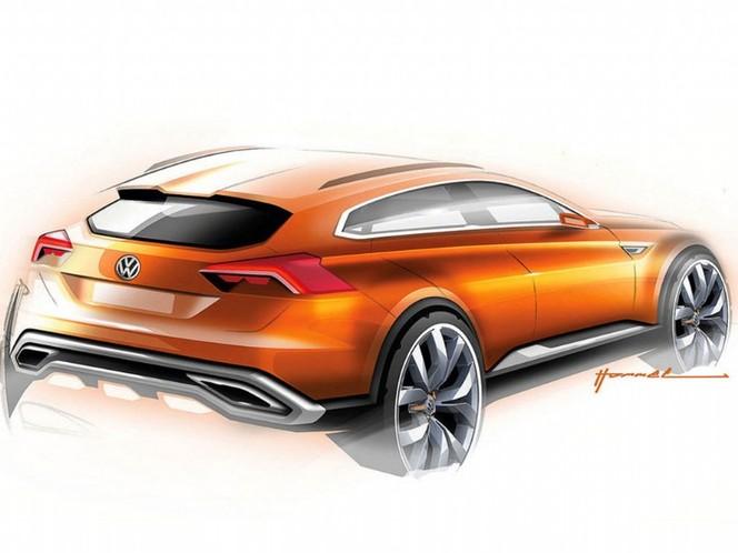 Shanghai 2013 : Volkswagen CrossBlue Coupé Concept, futur Touareg Coupé rival du BMW X6